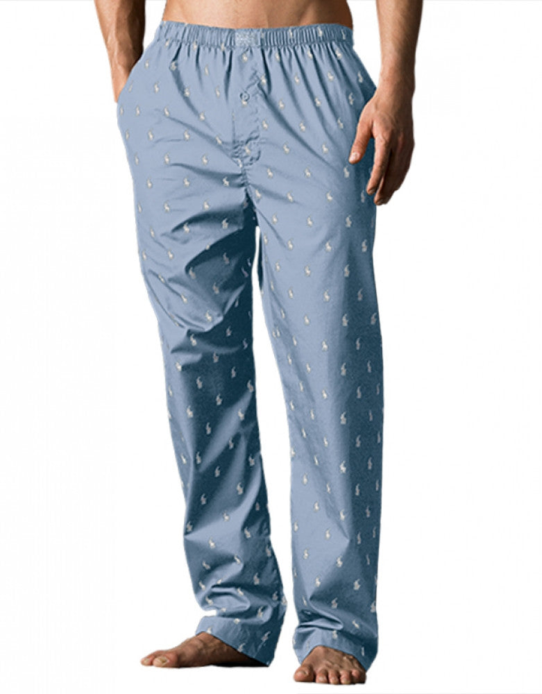 Beach Blue Front Polo Ralph Lauren Polo Player Sleepwear Pant R972