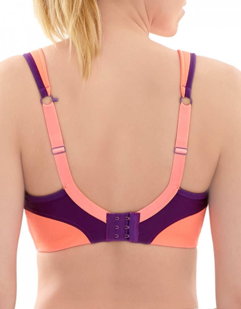 Purple/Coral Side Panache Active Wirefree Sports Bra