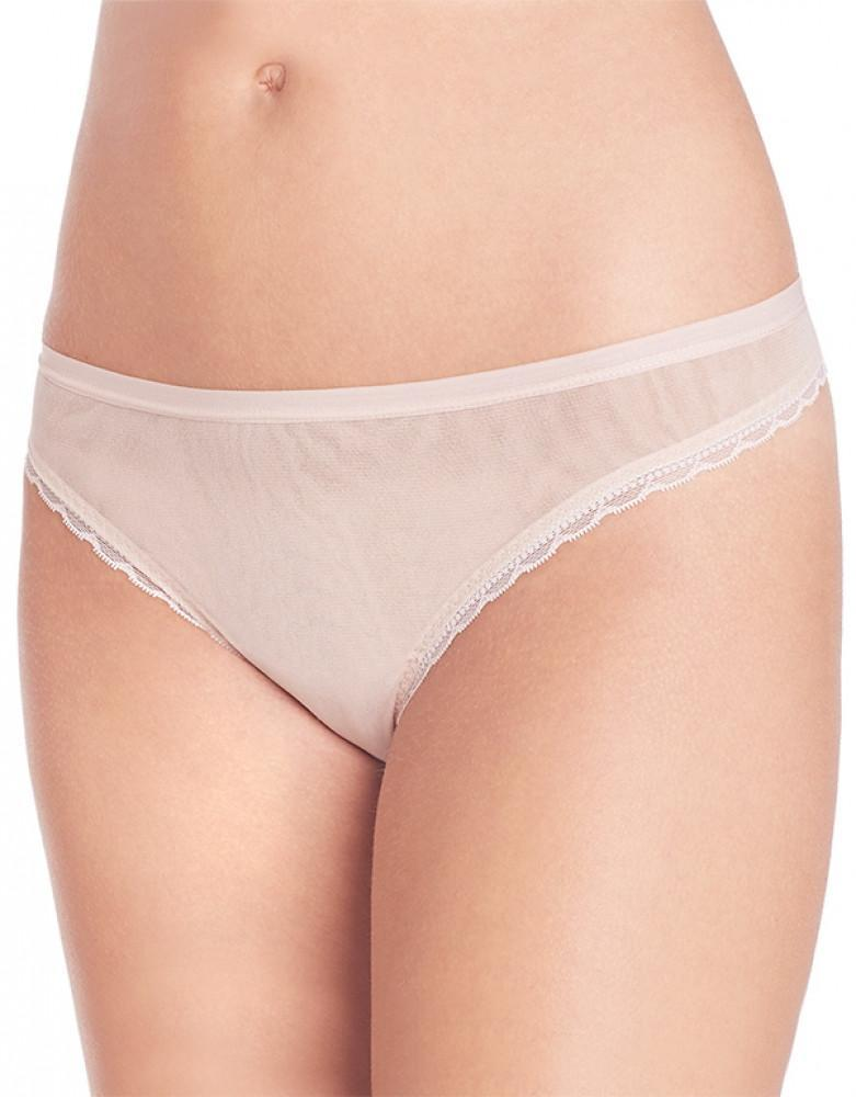 Champagne Front OnGossamer Scalloped Edge Thong
