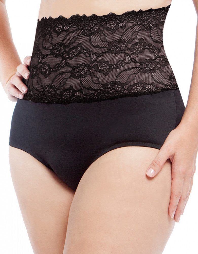 Black Front Dolce Vita Instant Shaping Medium Support Lace Brief