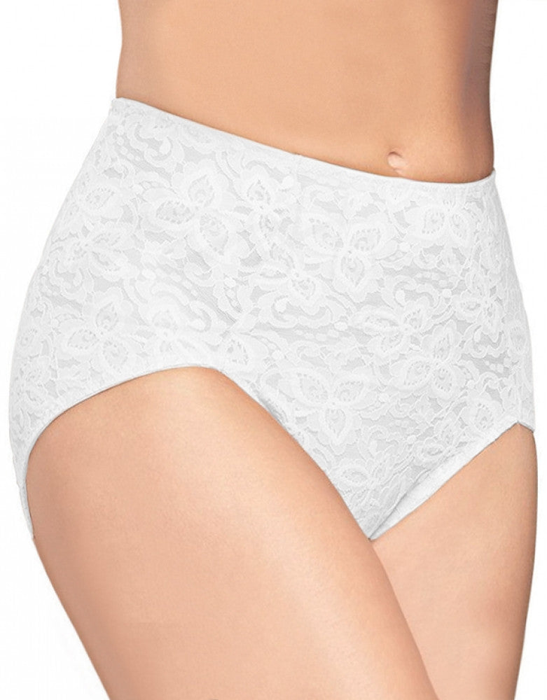 White Front Bali Bali Lace N Smooth Brief