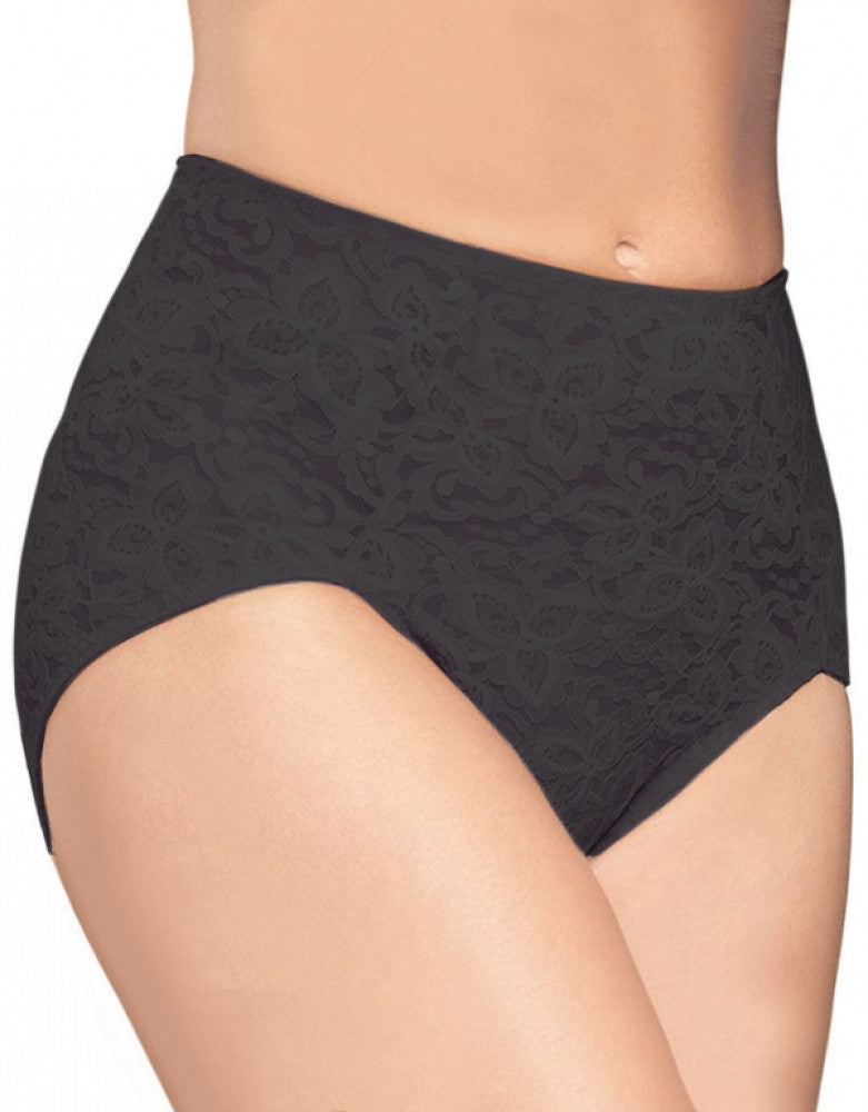 Black Front Bali Bali Lace N Smooth Brief