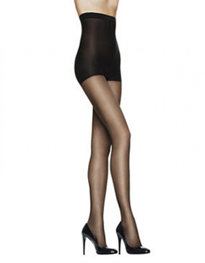 Black Front L'eggs Silky Sheer High Waisted Pantyhose