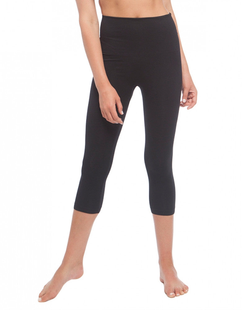 Black Front Dolce Vita Instant Shaping Medium Support Hi-Waist Capri