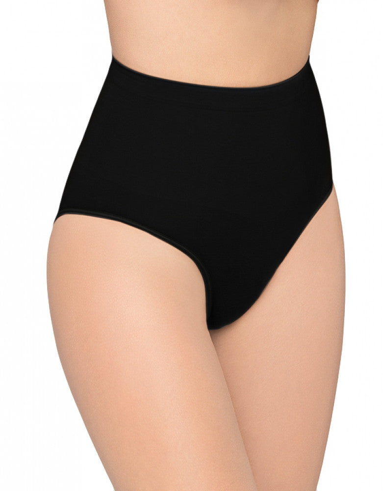 Black Front Body Wrap The Chic Slip Panty Mid-Rise Lites Panty 47810