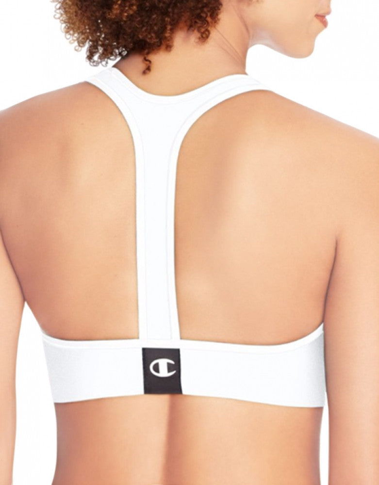 White Back Champion Champion Absolute Racerback Sports Bra with SmoothTec