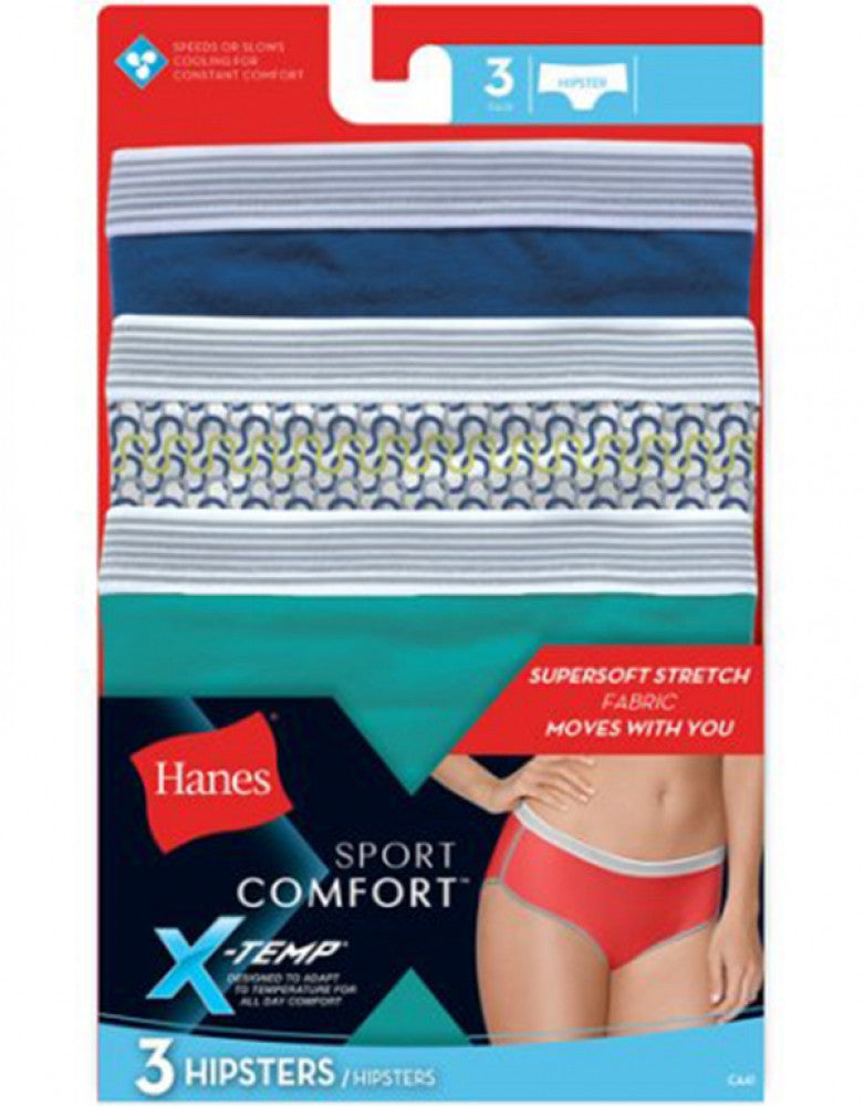 Assorted- random colors Other Hanes 3-Pack X-Temp Hipster Panties, colors come random assorted in pack