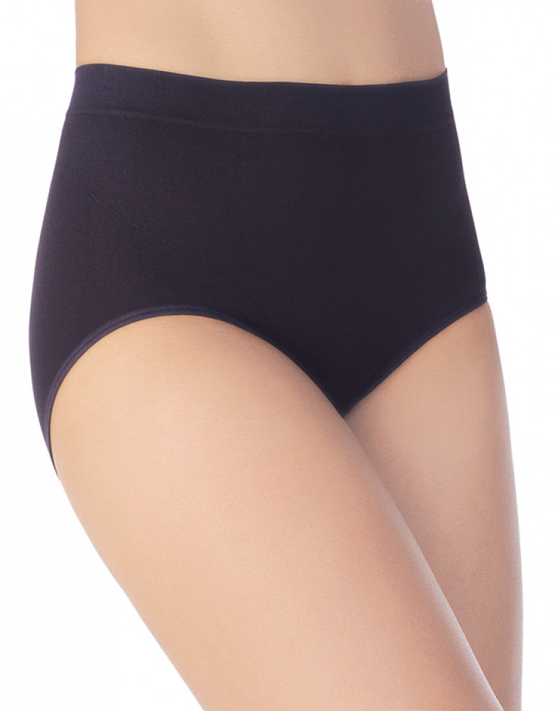 Midnight Black Front Vanity Fair Smoothing Comfort Seamless Brief