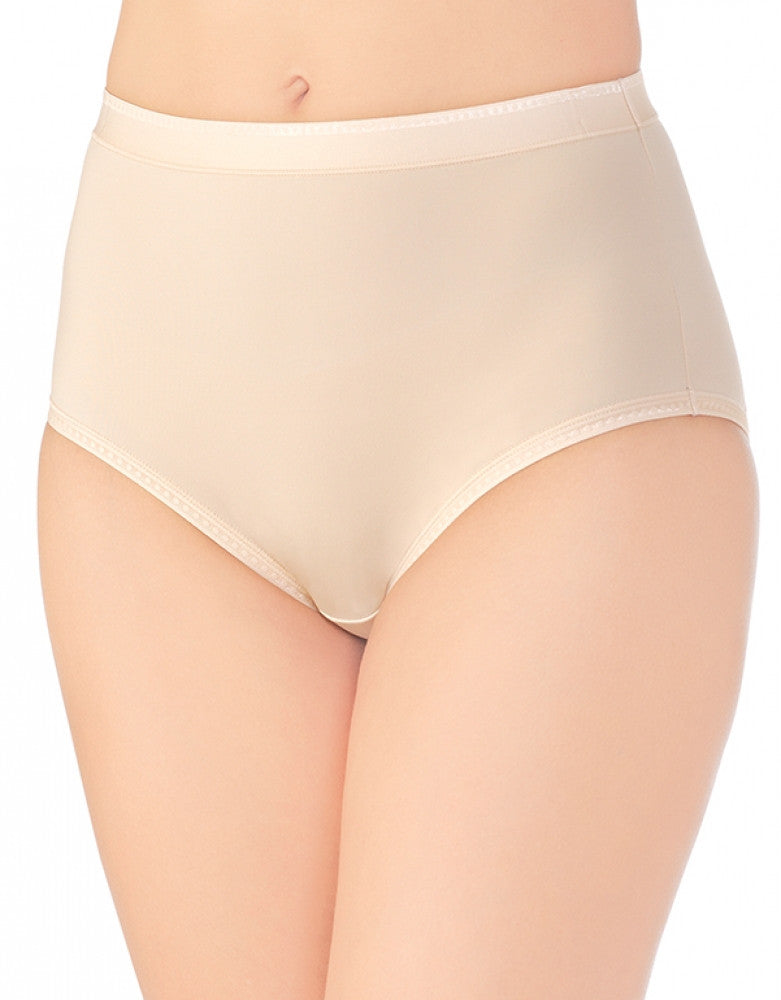 Damask Neutral Front Vanity Fair Comfort Where It Counts Brief Panty 13163