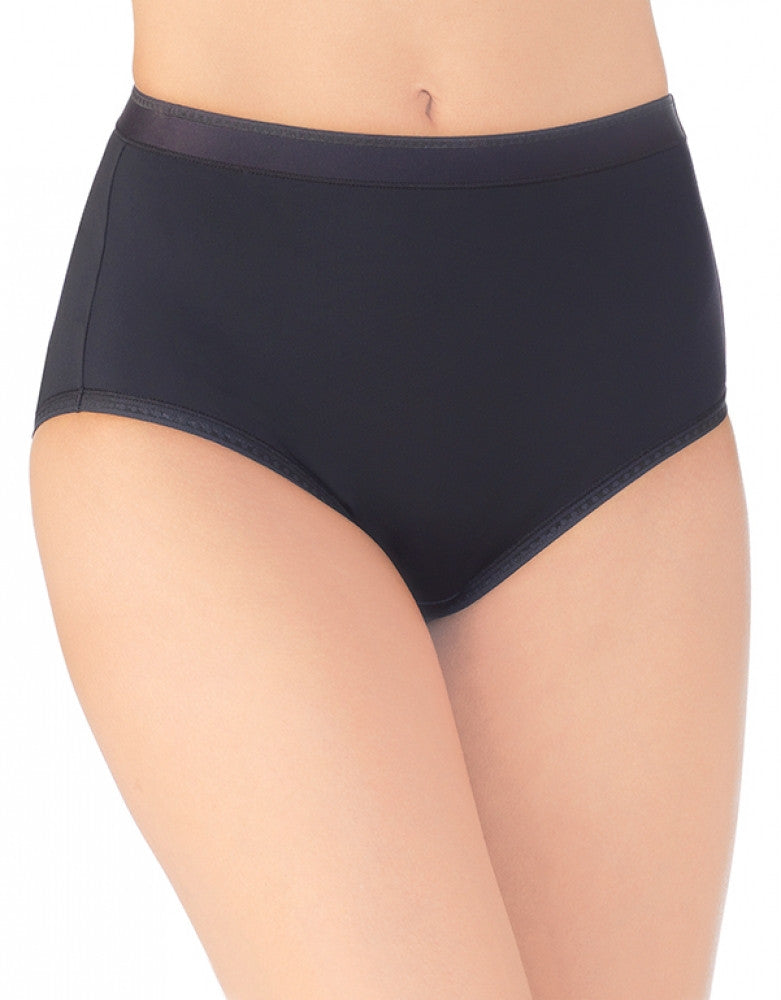 Midnight Black Front Vanity Fair Comfort Where It Counts Brief Panty 13163