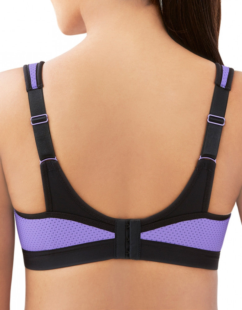 Black/Purple Back Glamorise Sport Underwire High Impact Bra