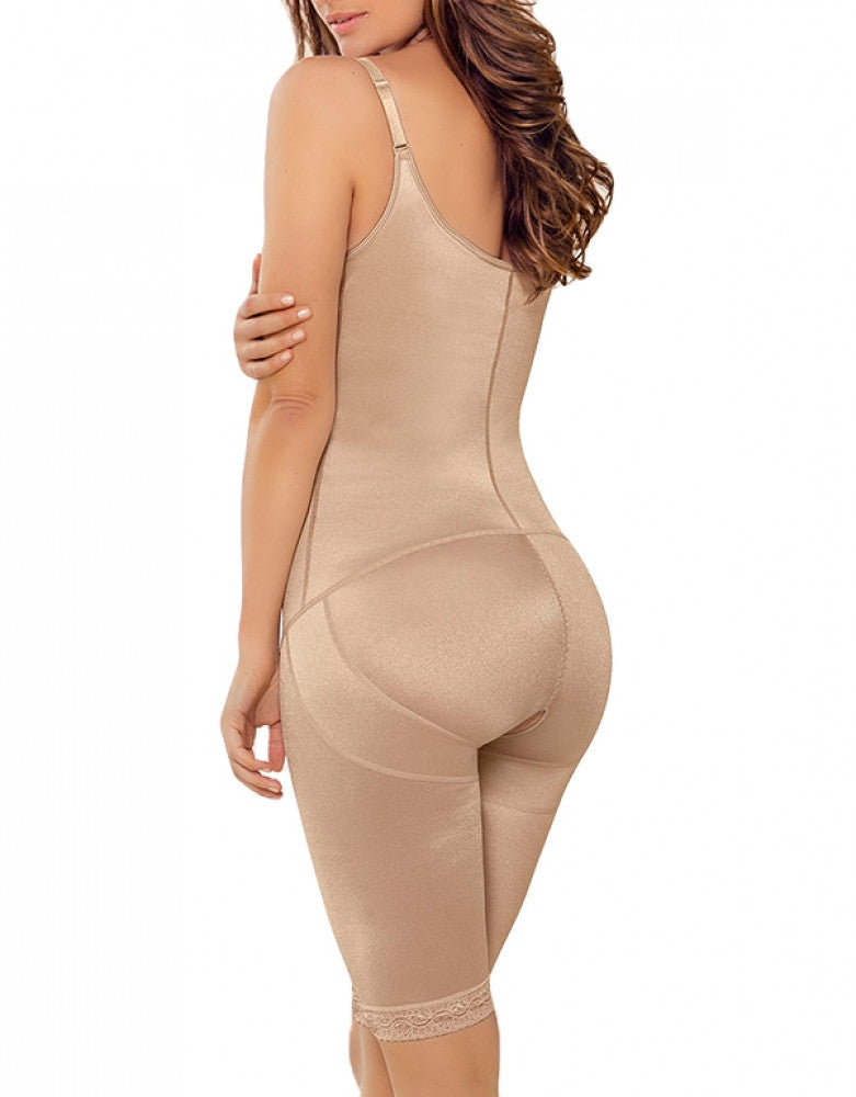 Nude Back Leonisa Extra Firm Latex Braless Minimizer Bodysuit