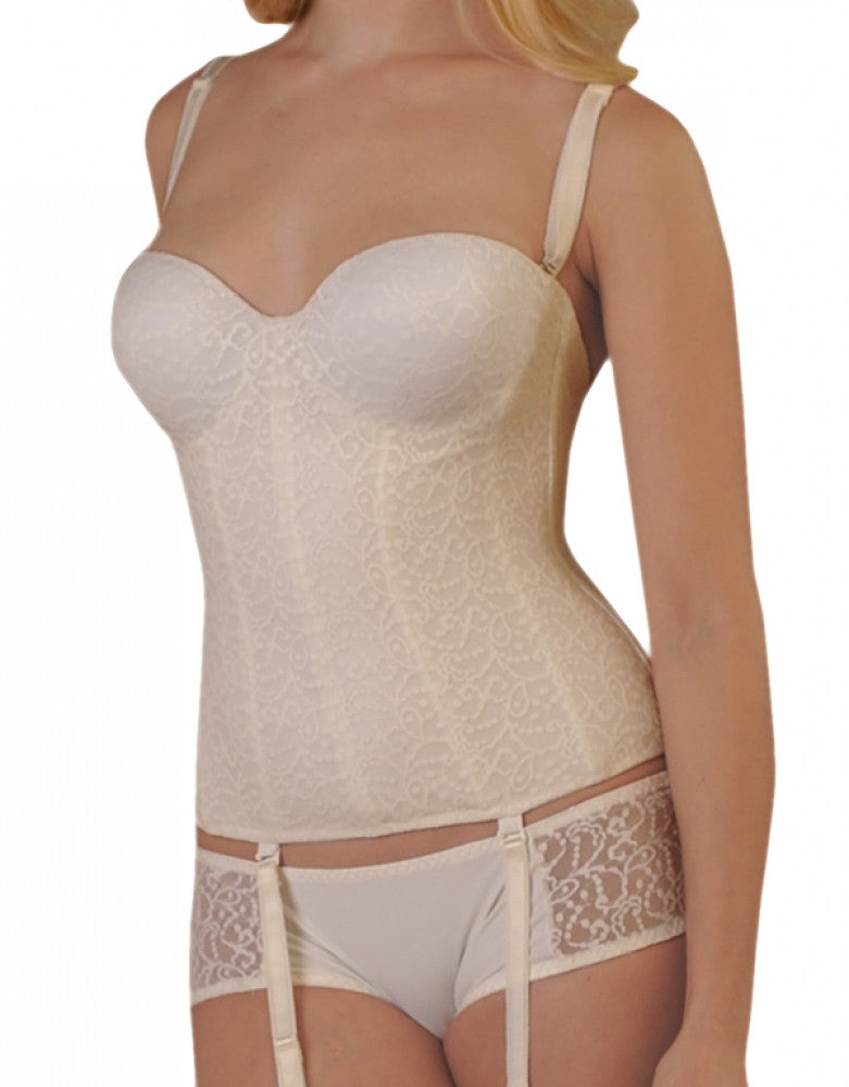 Ivory Front Carnival Invisible Lace Full Coverage Torsolette 425