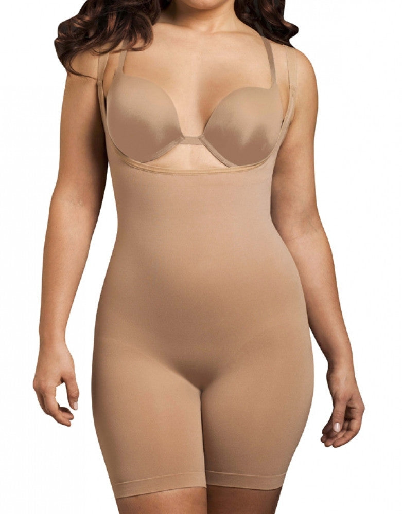 Nude Front Body Wrap The Smooth Catwalk High Waist Full Figure Long-Leg Bodysuit 45305