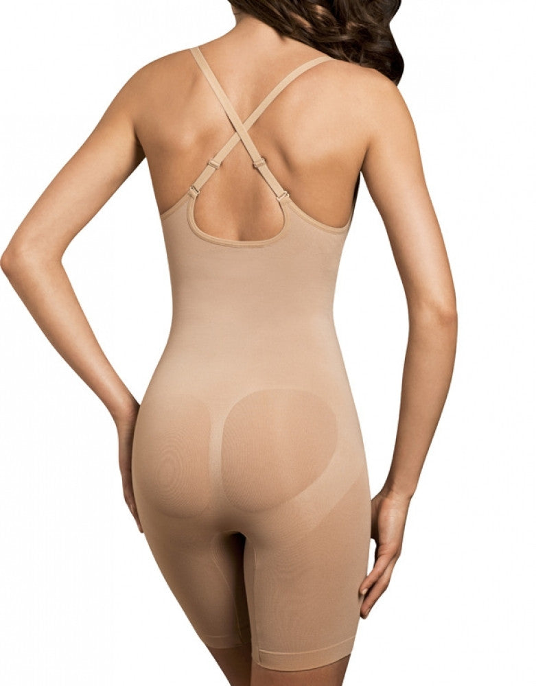 Nude Back Body Wrap The Smooth Catwalk High-Waist Long Leg Underbust Bodysuit 44305