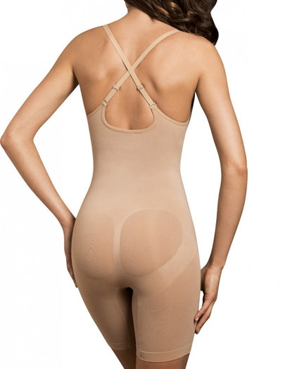 Nude Back Body Wrap Long Leg Underbust Bodysuit