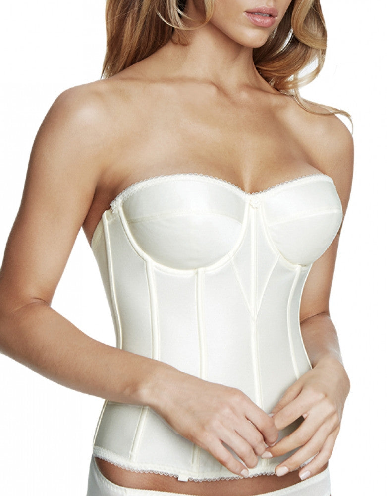 Ivory Side Dominique Julliette Satin Corsette