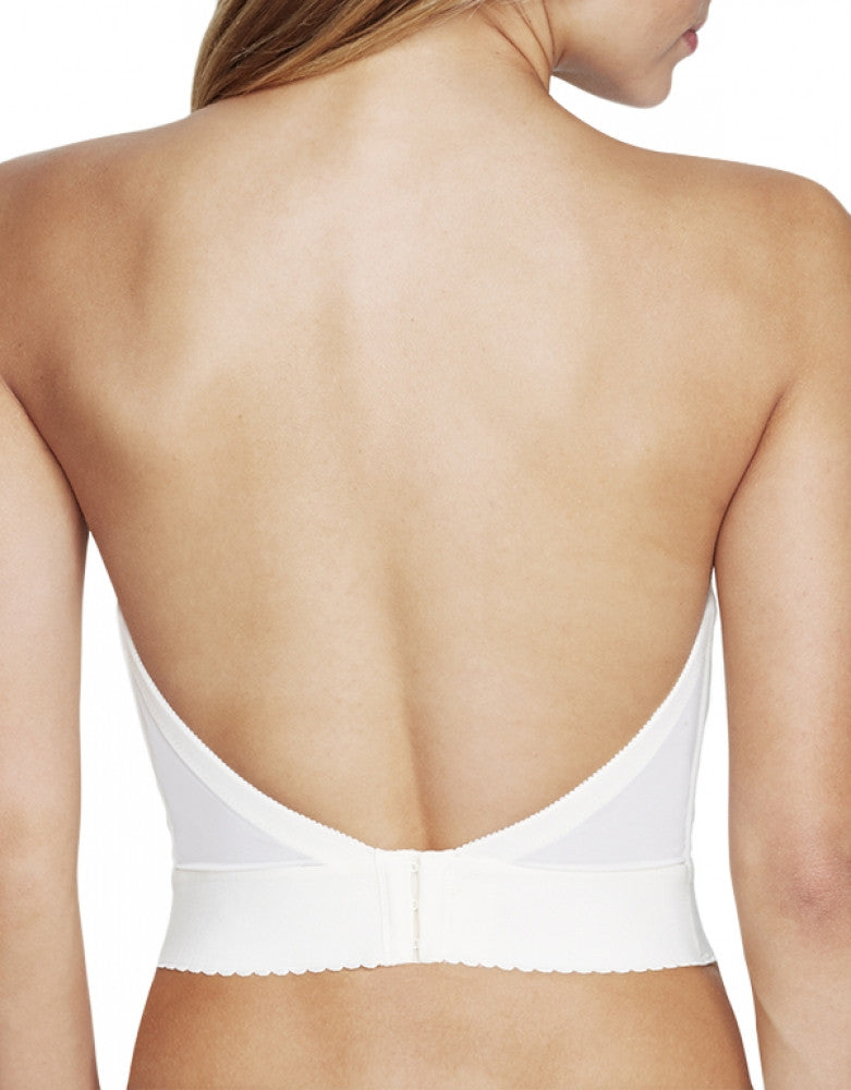 Ivory Back Dominique Noemi Backless Balconet Bridal Bra