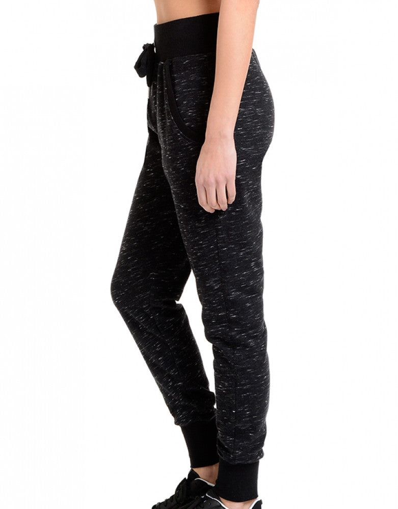 Black Space Dye Side 2xist Athleisure Jogger Pant