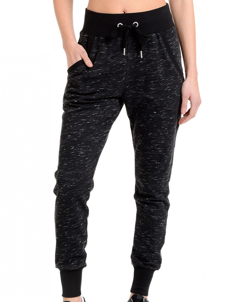 Black Space Dye Front 2xist Athleisure Jogger Pant