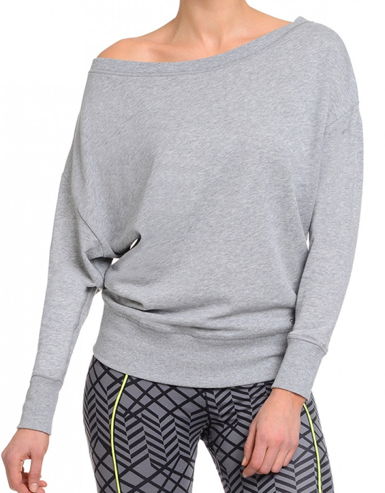 2xist Women Athleisure Drop Shoulder Sweatshirt Light Heather Grey XS 603679257791