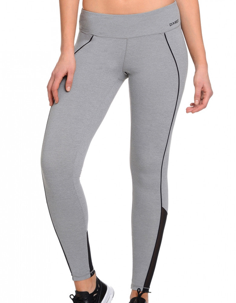 2xist Women Athleisure Solid Legging Light Heather Grey L 603679257463