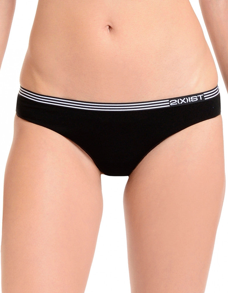 Black Front 2xist No Show Thong