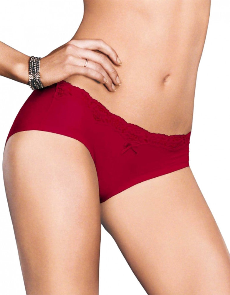 Camera Red-y W/Black Front Maidenform Comfort Devotion Embellished Hipster
