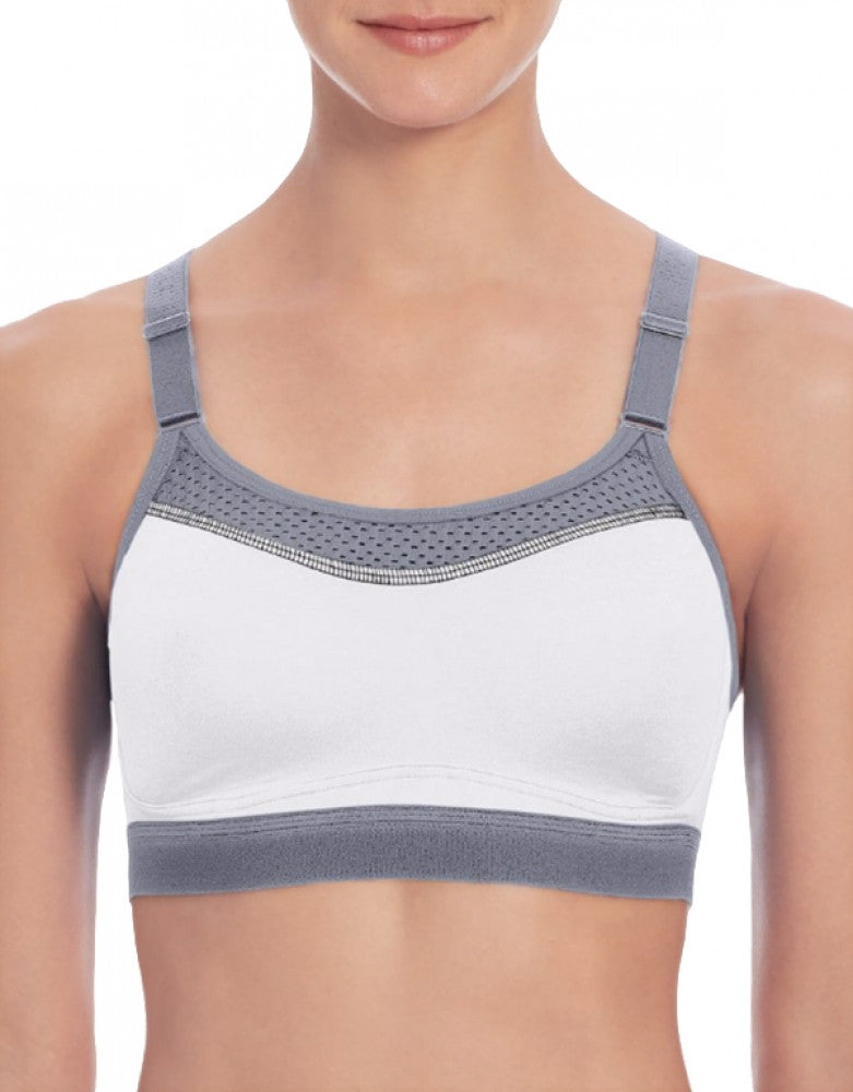 White/Medium Grey Front Champion Womens The Show-Off Sports Bra - 1666