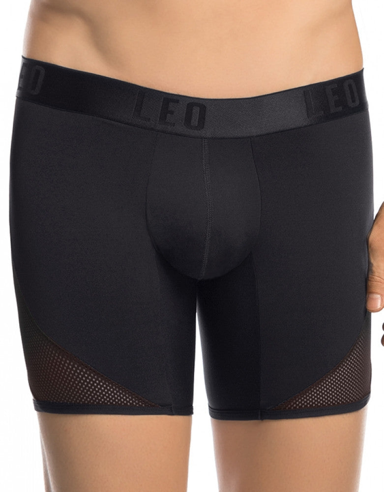 Black Front Leo Cool Mesh Sport Boxer Brief