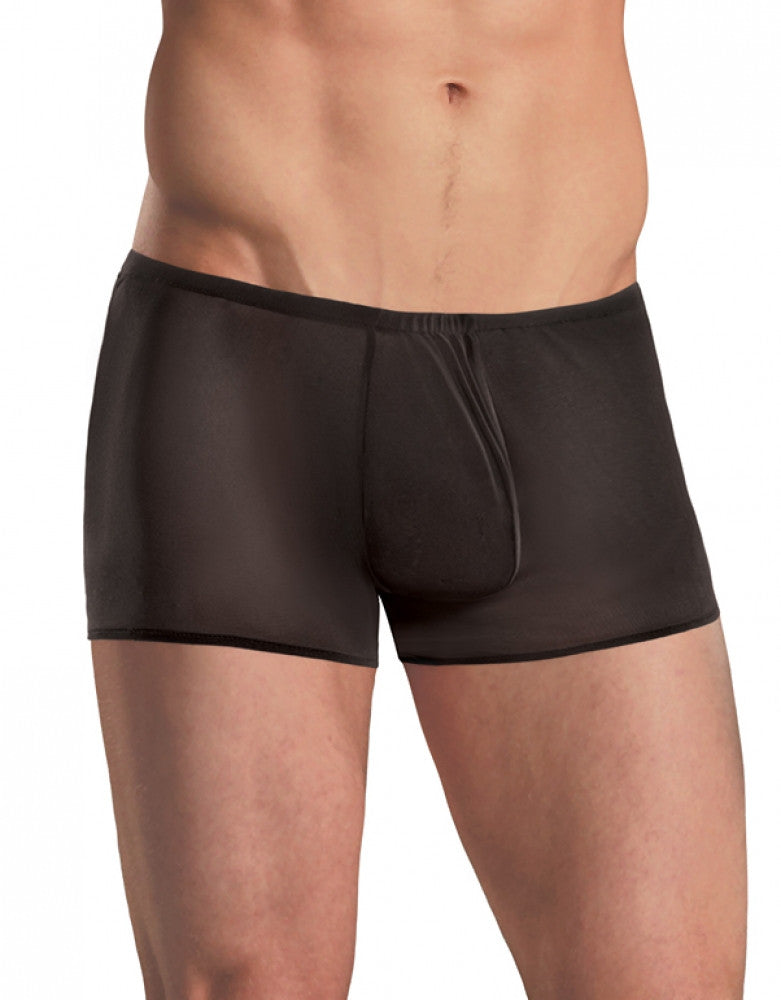 Black Front Male Power Pouch Short Mesh