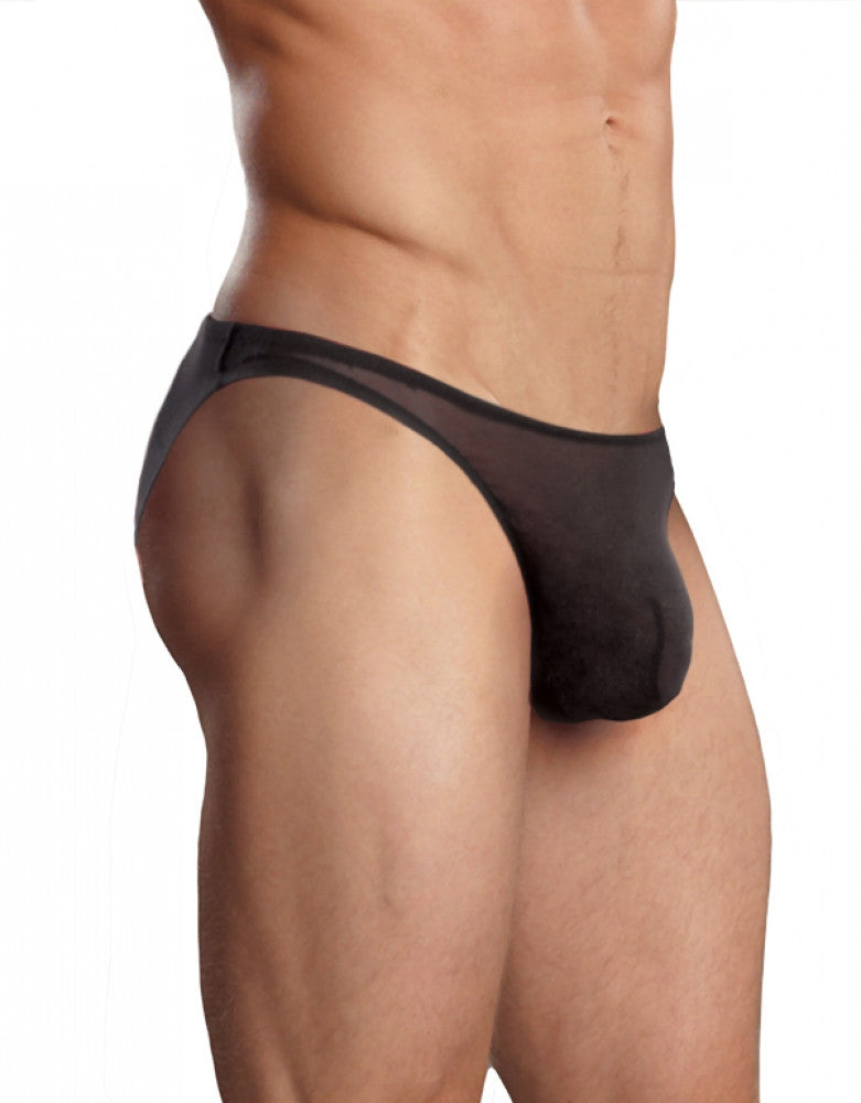 Black Front Male Power Big Man Mesh Wonder Bikini