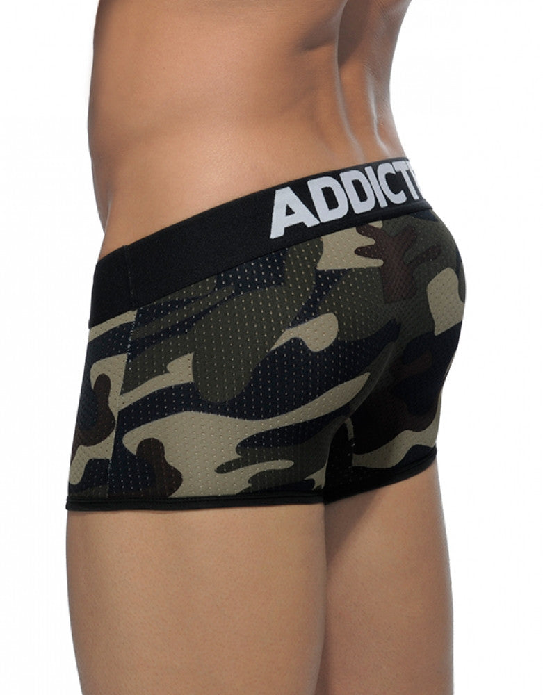 Camouflage Back Addicted Contrasted Mesh Boxer