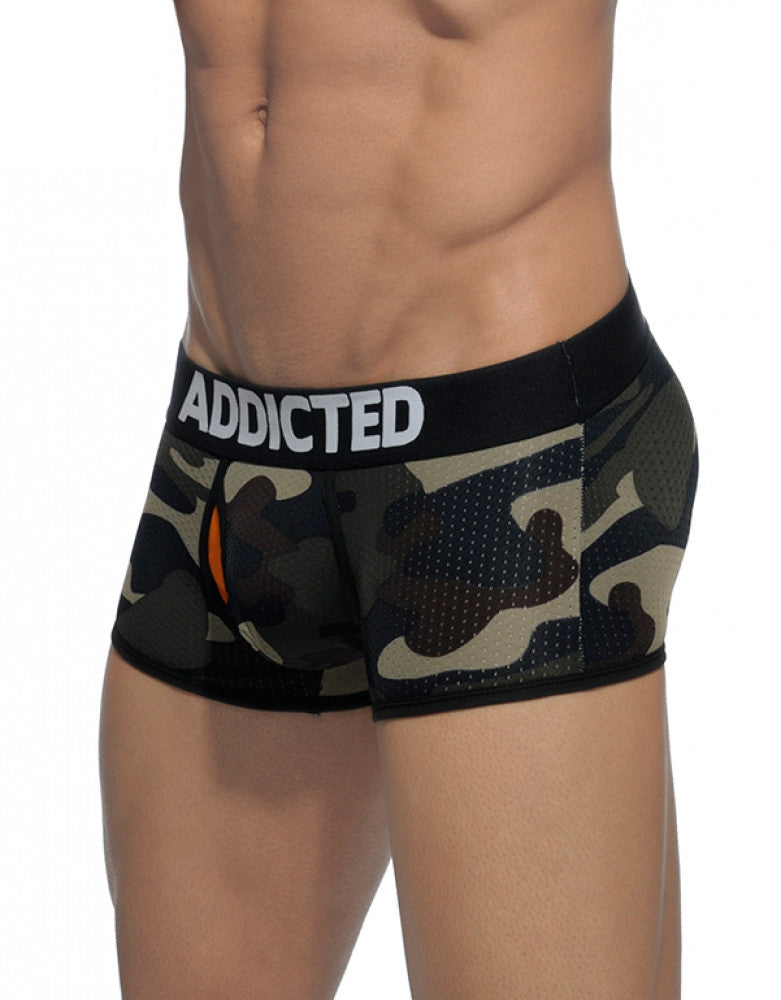 Camouflage Side Addicted Contrasted Mesh Boxer