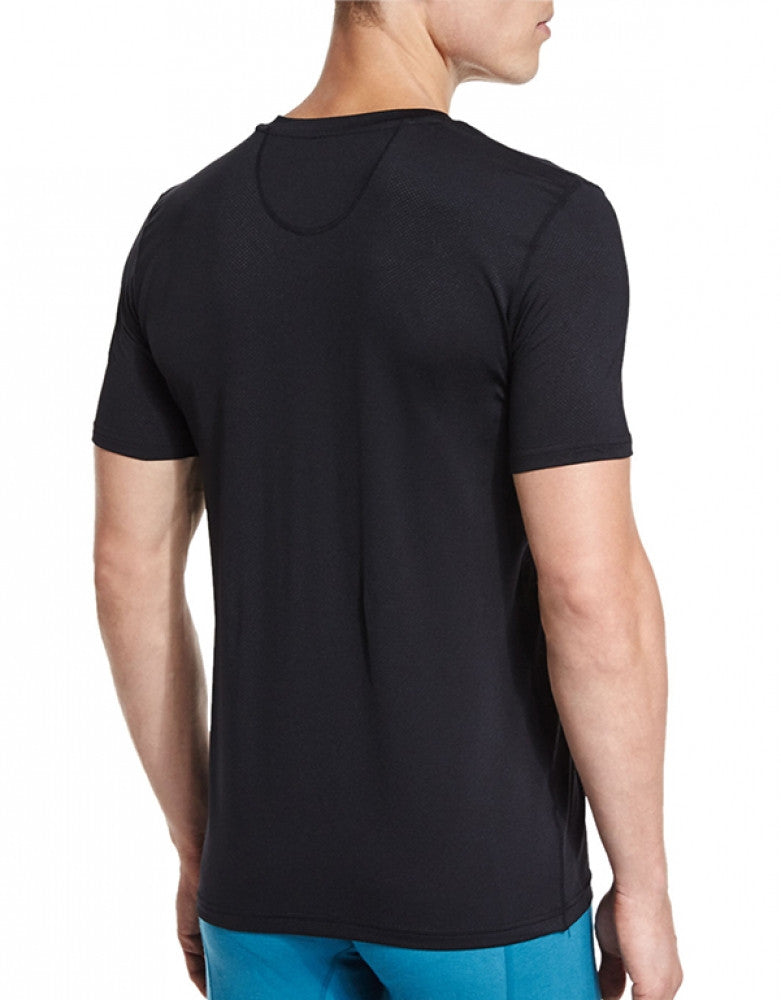 Black Back Frigo V-Neck Mesh T-Shirt