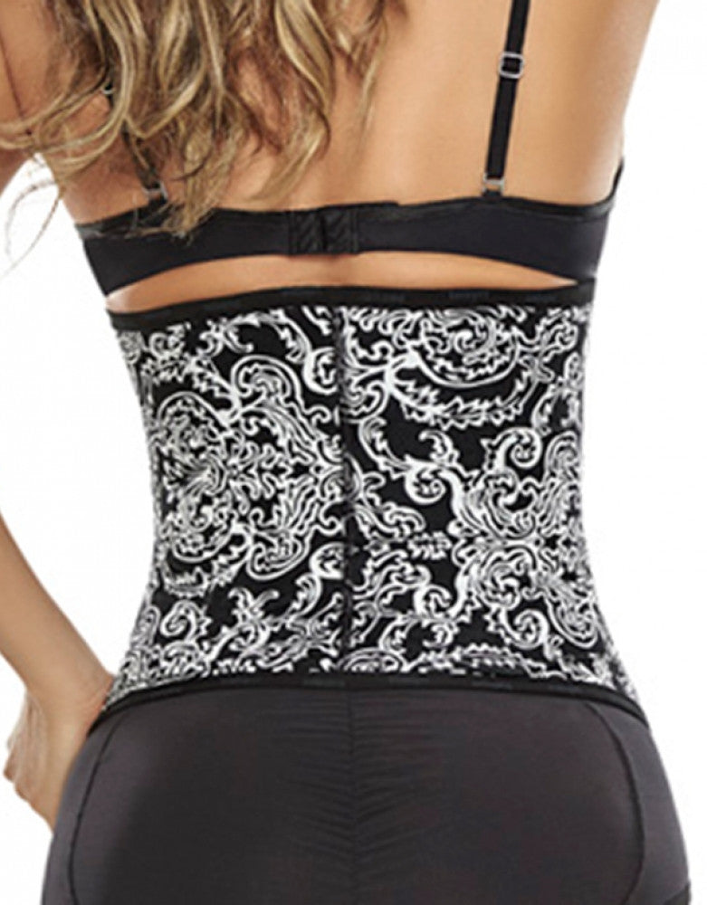 Print 2 Back Trueshapers Waist Training Cincher in Prints 3-D Structure