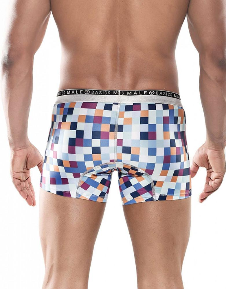 Pixels Back Malebasics Men's Hipster Trunk MB201