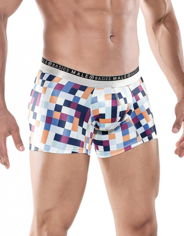Pixels Side Malebasics Men's Hipster Trunk MB201