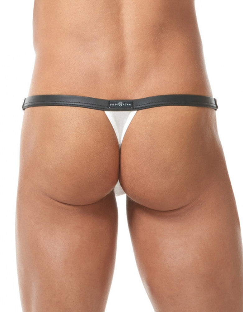 White Back Gregg Homme Grip G String