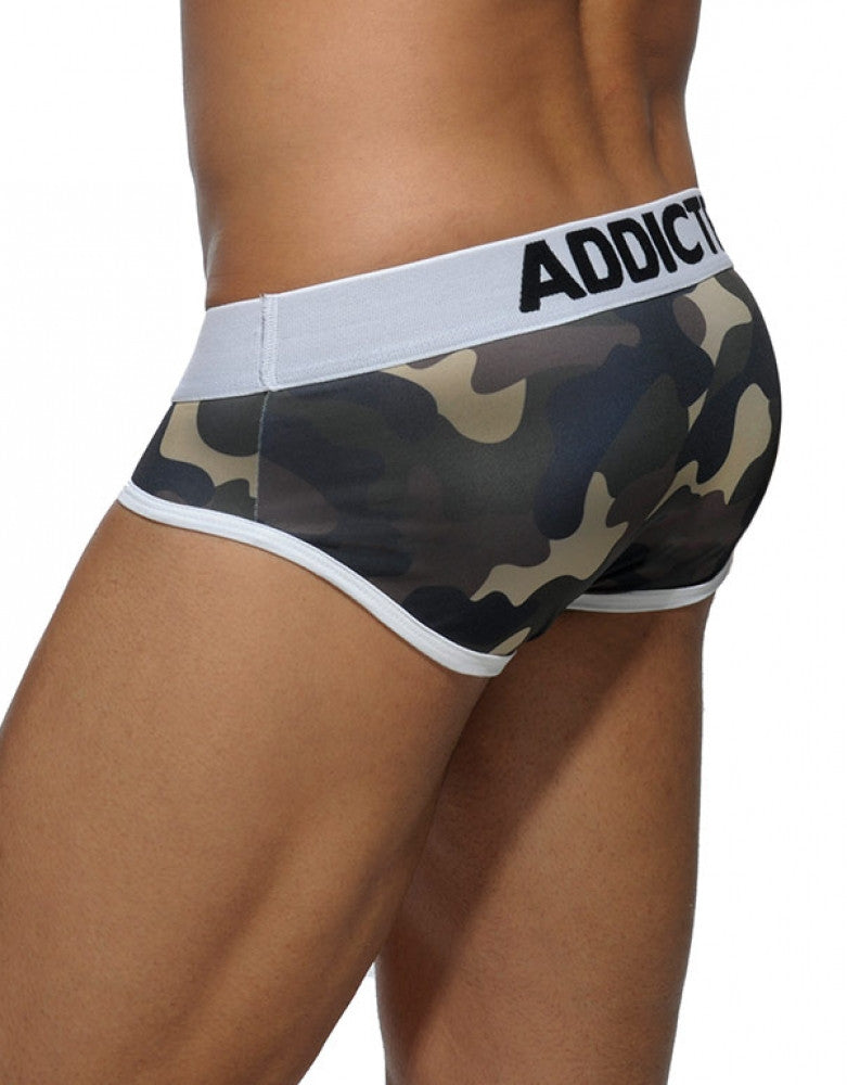 Green Camo Back Addicted Basic Camo Brief
