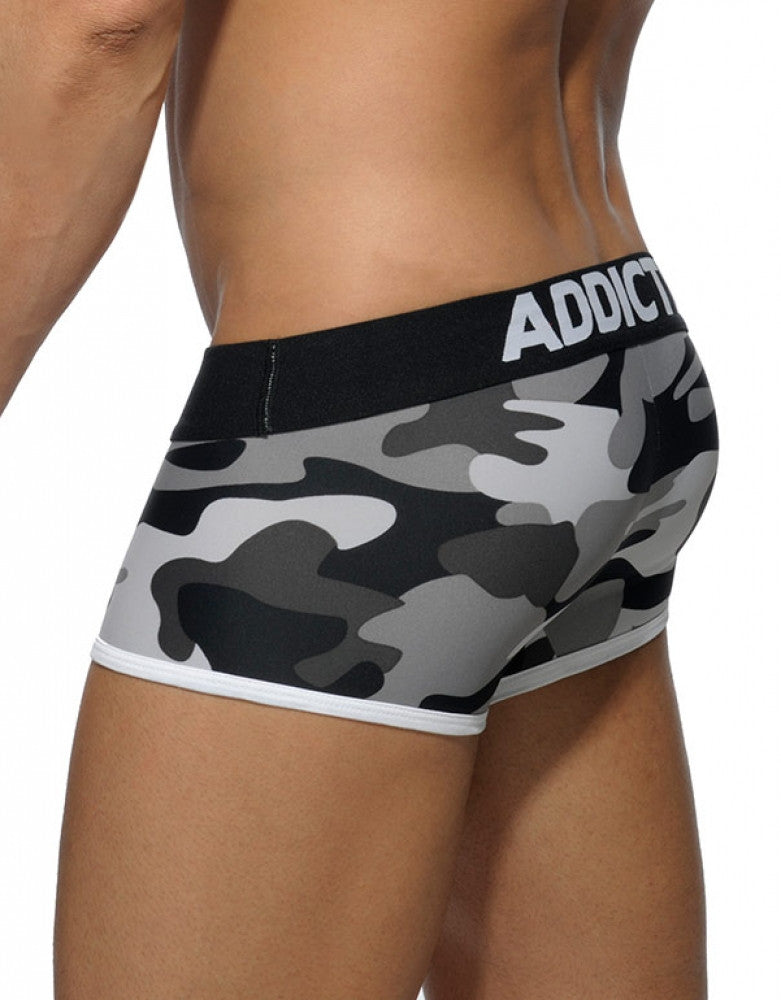 Black Camo Back Addicted Men's Basic Camo Boxer