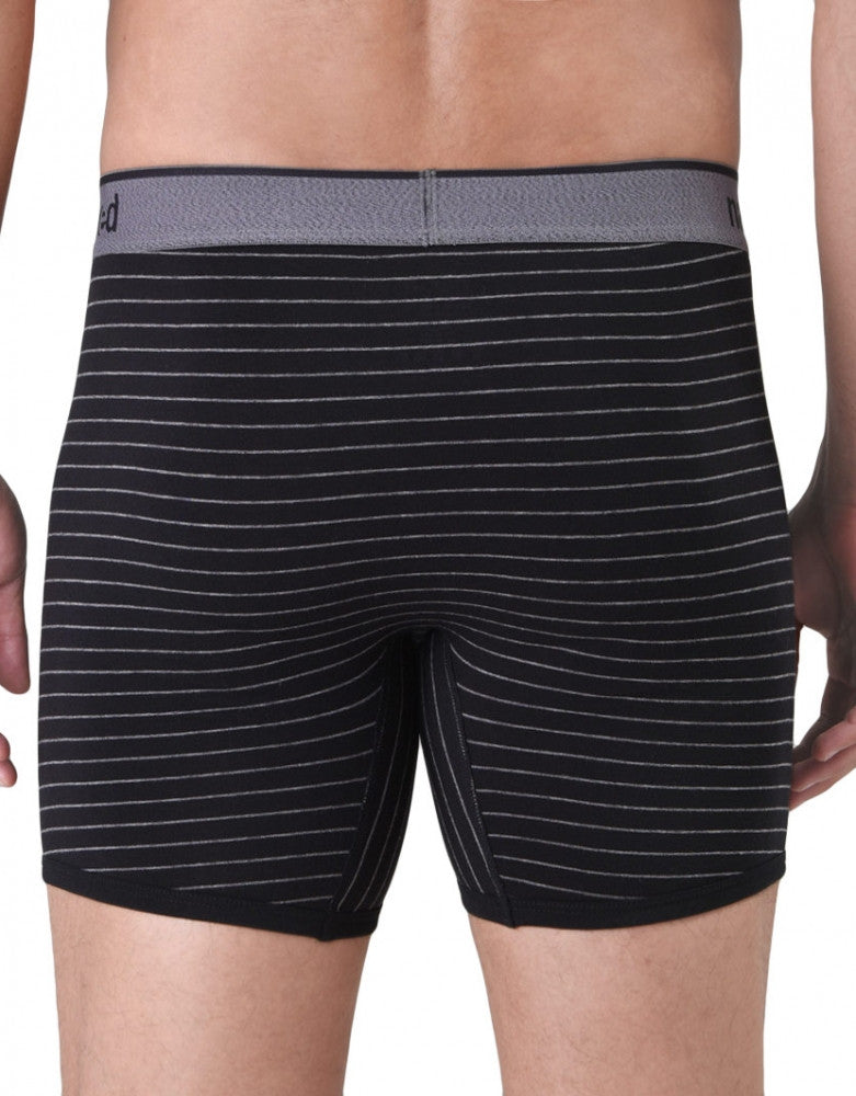 Gotham Stripe - Black Back Naked Essential Boxer Brief