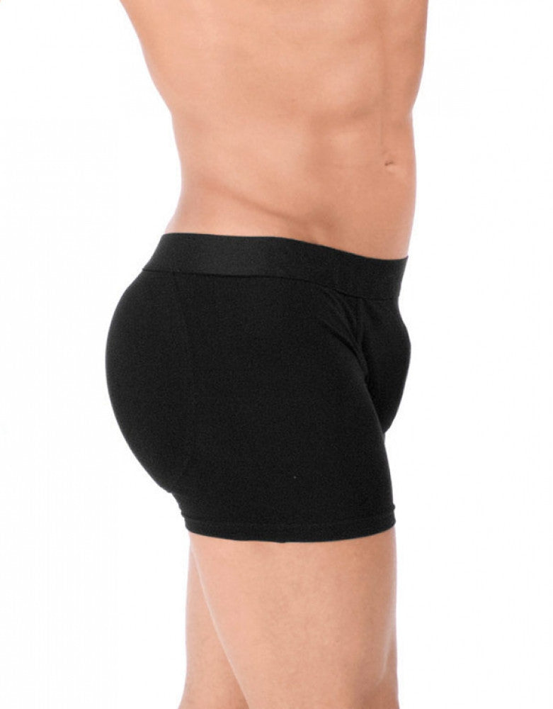 Black Side Rounderbum Padded Basic Boxer Brief