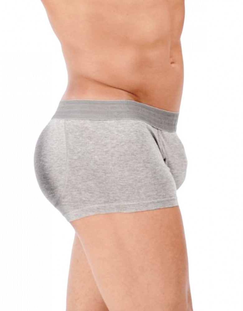 Gray Side Rounderbum Padded Boxer Trunk