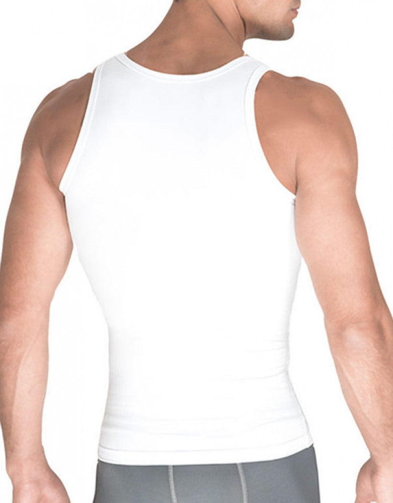 White Back Rounderbum Cotton Compression Tank