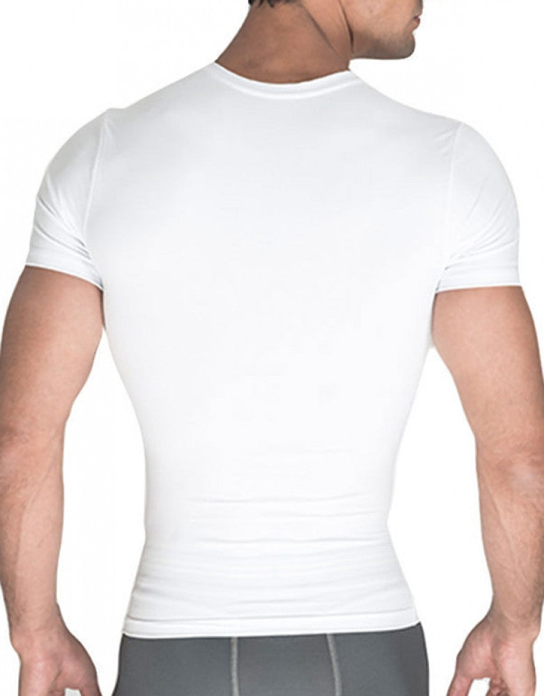 White Back Rounderbum Cotton Compresssion T-Shirt