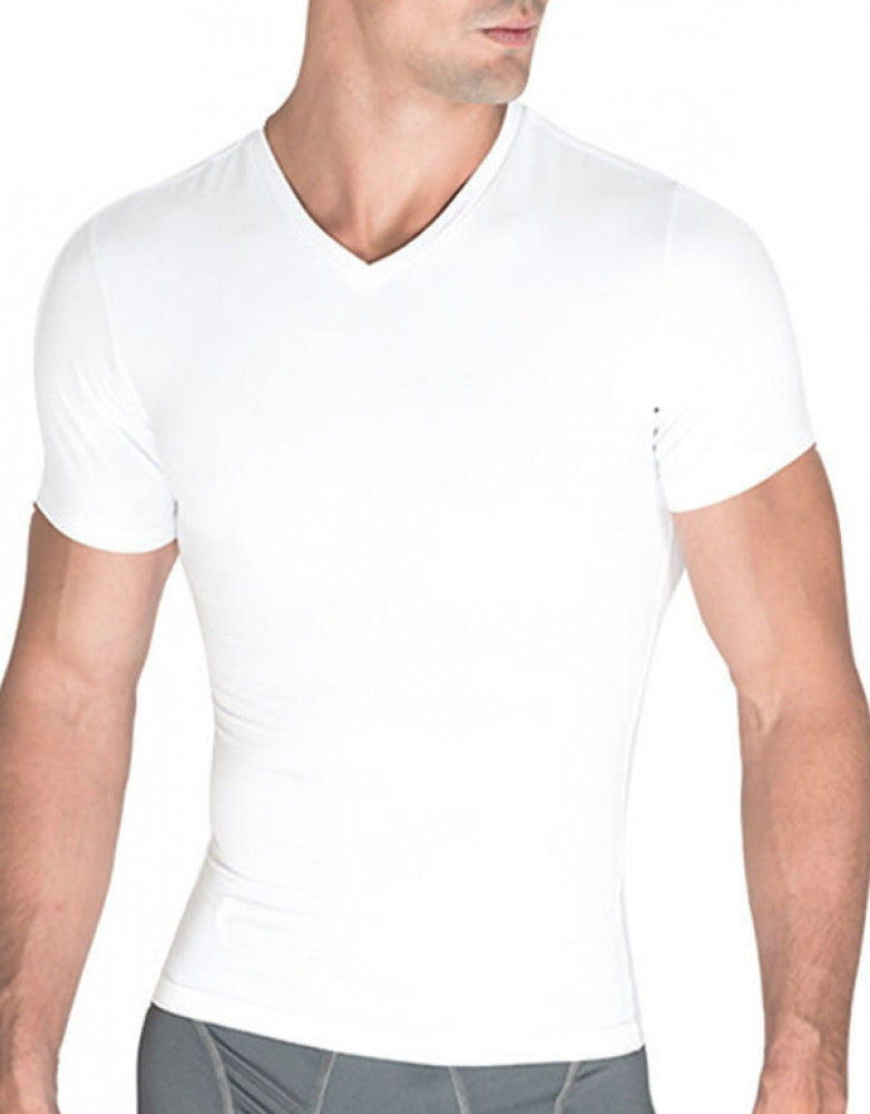 White Front Rounderbum Cotton Compresssion T-Shirt