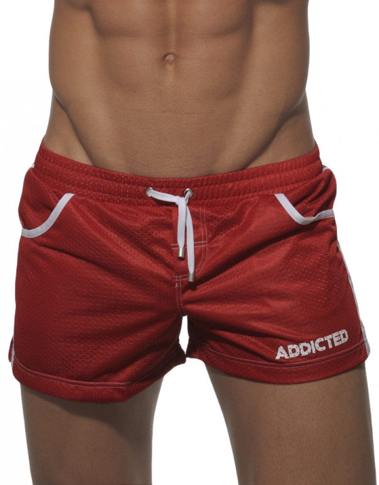 Red Front Addicted Swim Mesh Boxer