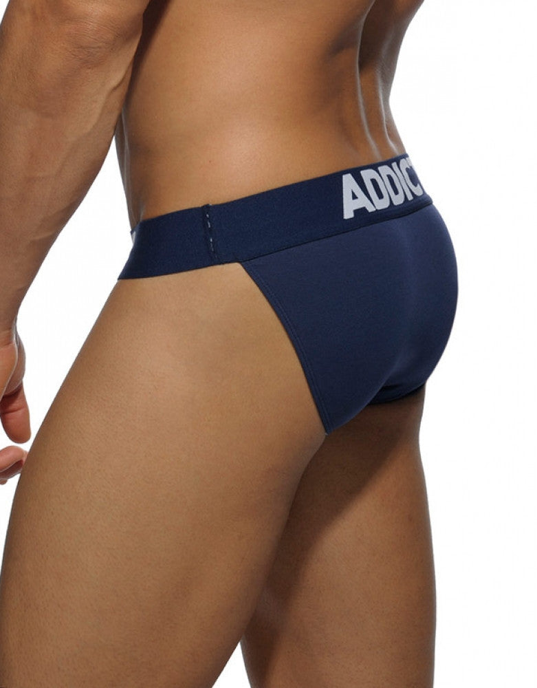 Navy Side Addicted Basic Bikini Brief