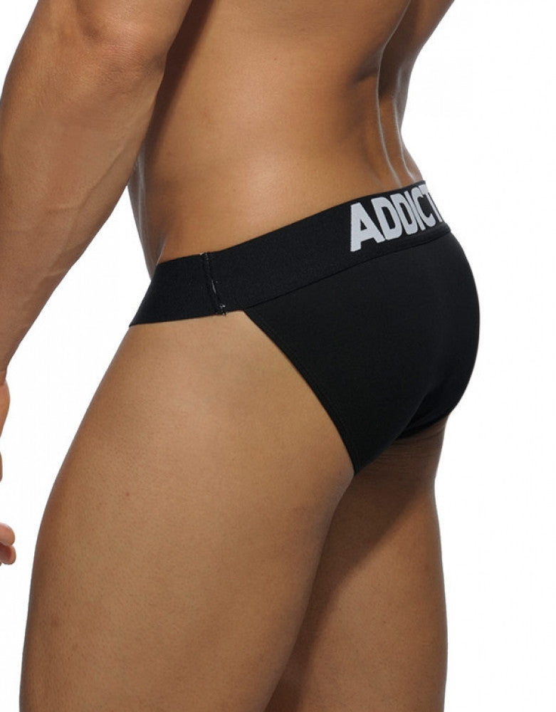 Black Side Addicted Basic Bikini Brief